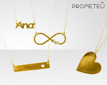 Colar Personalizado com Nome da Prometeu® | Banhado a Ouro