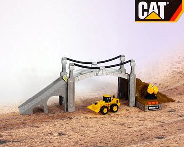 Kit Construção Ponte da CAT® com Sons | Miniaturas que Parecem Reais