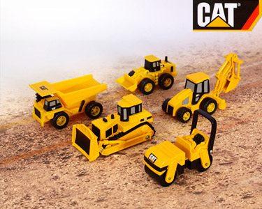 Conjunto de 5 Máquinas de Construção em Miniatura da CAT®