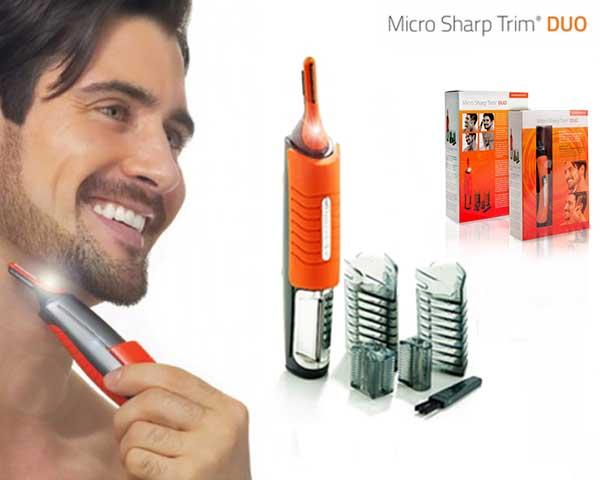 Aparador Micro Sharp Trim Duo | Corta Cabelo e Barba ou Apara Pêlos!