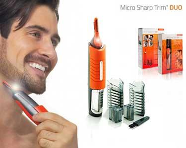Aparador Micro Sharp Trim Duo   Corta Cabelo e Barba ou Apara Pêlos!