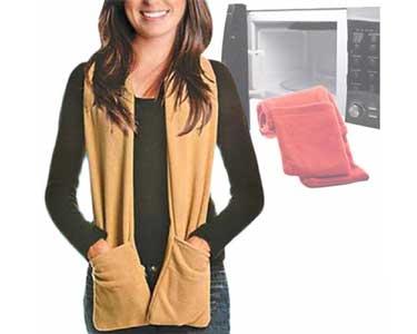 Cachecol de Microondas com Bolsos   Scarf & Glove