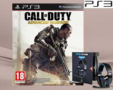 Jogo PS3 ou PS4 Call Of  Duty Advance Warfare + Auscultadores