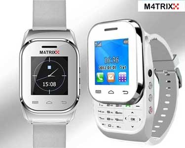 Relógio Telemóvel M4TRIX Dual Sim Branco + Oferta de Earphone