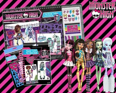 Pack Monster High | Cadernos & Acessórios