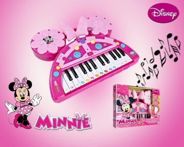 Teclado Electrónico da Minnie | Com Sons, Ritmos e Opção de Gravação