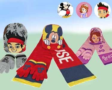 Conjunto de Inverno para Criança | Jake, Princesa Sofia ou Mickey