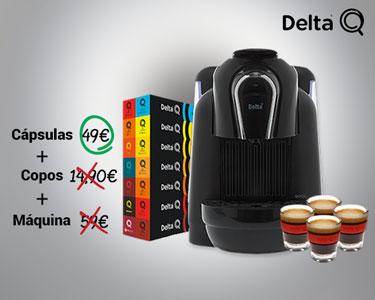 Máquina Delta Qool + 150 Cápsulas + 4 Copos