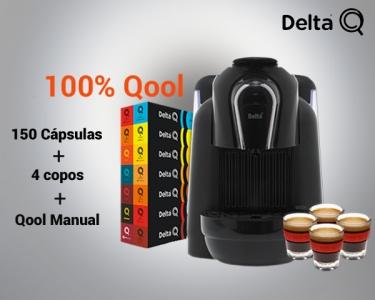 Pack Delta Q | Inclui Máquina Delta Qool, 150 Cápsulas e 4 Copos