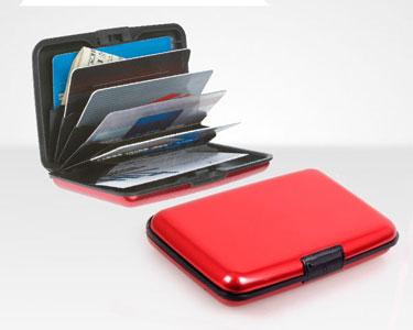 Carteira Vermelha em Alumínio - Porta Cartões