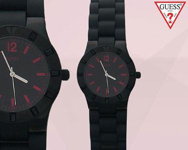 Relógio Guess® Senhora | Preto com Bolsa