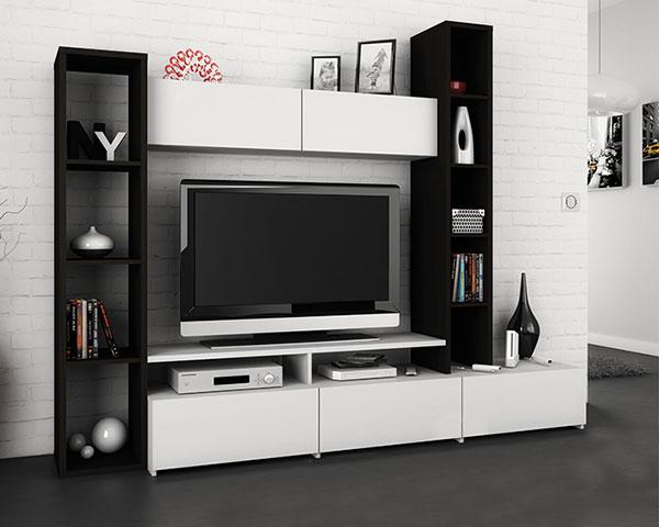 Refresh à sua Sala   Estante de TV em Preto e Branco