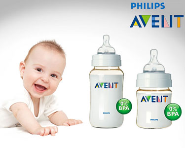 Conjunto de 2 Biberões Philips AVENT   Sem Bisfenol & Anti-cólicas