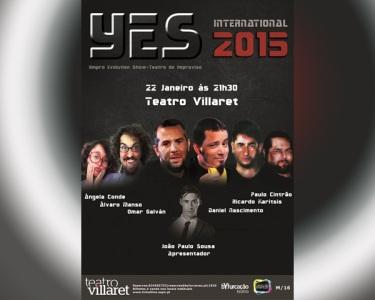 «Y.E.S.» | Espectáculo de Improviso | 22 Janeiro às 21h30 | Teatro Villaret