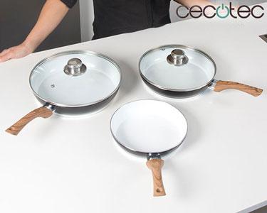 Conjunto de Frigideiras em Titanium Cecotec® | 5 Peças