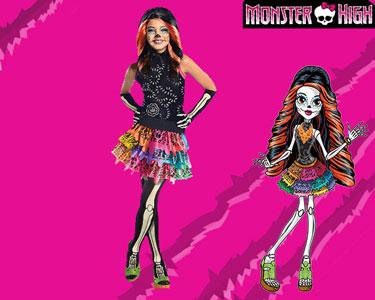 Fato de Carnaval de Criança | Monster High - Skelita Calaveras