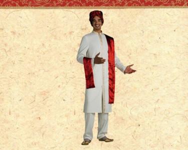 Fato de Carnaval de Adulto | Príncipe Hindu Bollywood