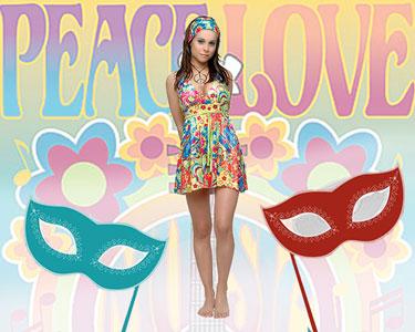 Fato de Carnaval de Adulto | Sexy Flower Power