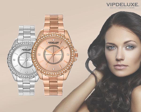 Relógio com 64 Cristais Swarovski Elements® | Prateado ou Rosa