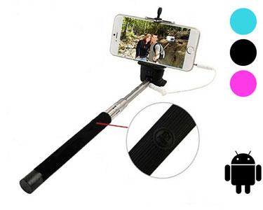 Braço Extensível para Selfies com Botão Integrado