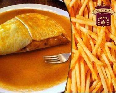 Francesinha ou Pizza à La Tasca | Especialidade em Forno a Lenha até 6 pessoas