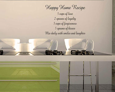 Vinil Happy Home Recipe - 57 x 43 cm