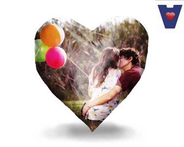 Almofada Coração 100% Personalizada | Celebre o Amor!