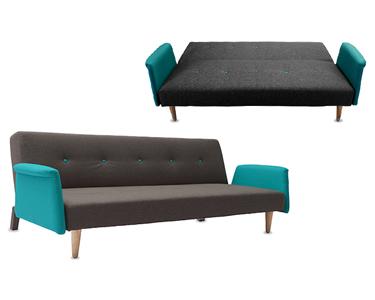 Sofá Cama Vintage em Tecido | Design & Versatilidade