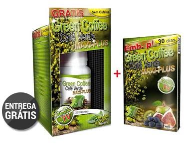 Emagreça com Green Coffee Maxi Plus | 60 Cápsulas + 30 Comprimidos