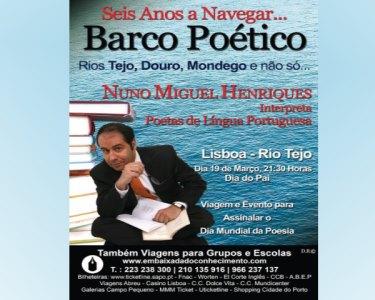Espectáculo «Barco Poético» no Rio Tejo | Dia do Pai | 2 Pessoas