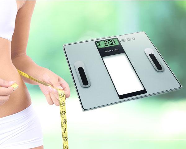 Balança de Controlo Peso, Índice de Gordura e Água Corporal