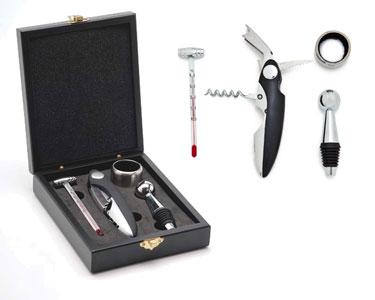 Kit Essencial para Vinho | 4 Acessórios incluindo Termómetro
