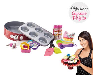 Kit 18 Peças + 25 Formas Papel | Cupcakes Perfeitos
