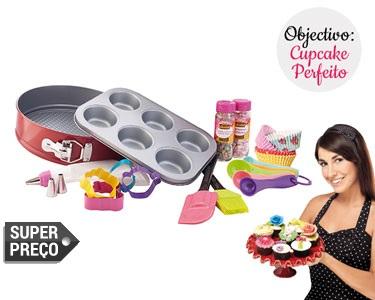 Super Kit Pastelaria 18 Peças + 25 Formas | Cupcakes Perfeitos!