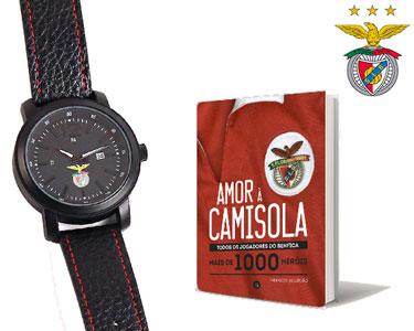 Pack Benfica | Relógio + Livro «Amor à Camisola» c/ prefácio de Luisão