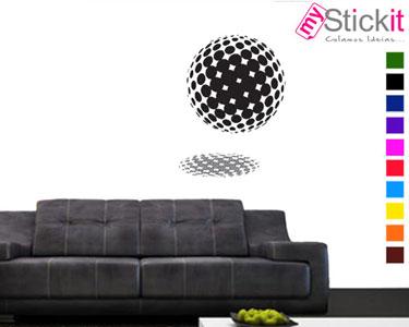 Vinil Autocolante 3D «Bola Halftone» | Casa Moderna!