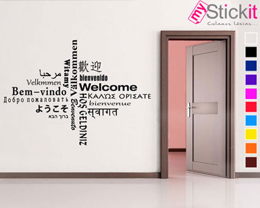 «Bem-vindo, Welcome, Bienvenue» | Vinil Autocolante 40x55 cm