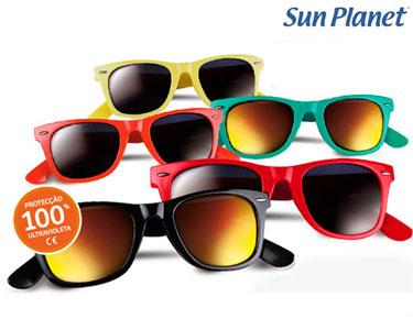 Óculos de Sol Coloridos Sun Planet® | 100% Protecção