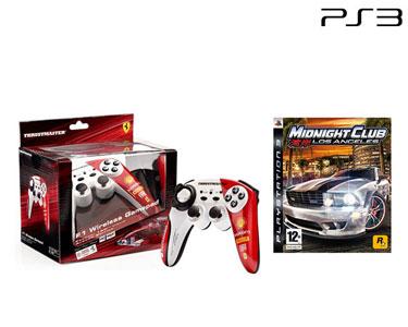 Comando Wireless F1 Alonso PS3/PC + Jogo «Midnight Club 4» PS3