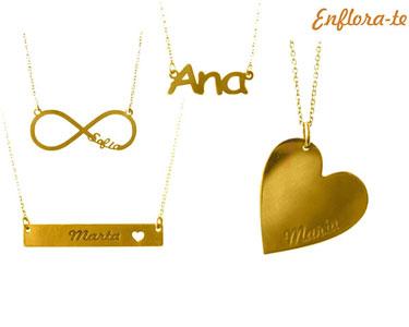 Colar Personalizado com Nome da Enflora-te® | Banhado a Ouro ou Prata