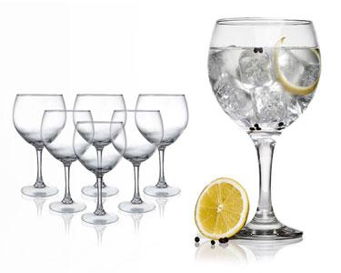Conjunto de 6 Copos Balão para Gin Tónico
