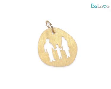 Medalha Be Love Prata Dourada | Casal e Menino