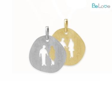 Medalha Be Love Prata ou Prata Dourada | Casal