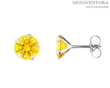 Brincos de Prata com Zicornia Swarovski Elements® | Cores à Escolha