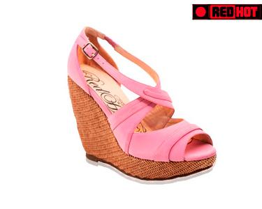 Sandálias Senhora Cunha Alta | Azul ou Rosa