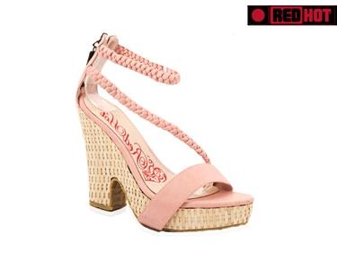 Sandálias Senhora Salto Alto   Rosa