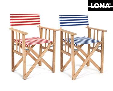 Cadeira Realizador Riscas Lona® | Escolha a Cor!