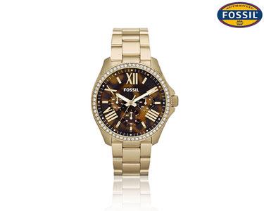 Relógio Fossil® Analógico | Dourado com Brilhantes