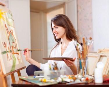 Workshop de Iniciação à Pintura em Tela   3h - Crie a Sua Obra de Arte