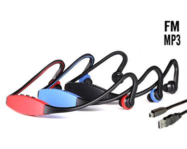 Auriculares Desportivos com MP3 & FM   Cores à Escolha!